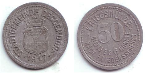 möbelhaus deggendorf 50 pfennig 1917 deggendorf notgeld der stadtgemeinde