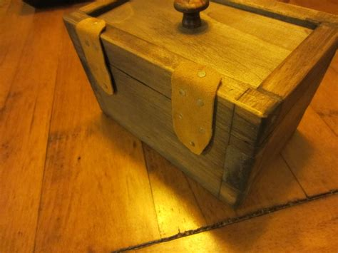 modern rustic boxes  leather hinges  albeam  lumberjockscom woodworking community