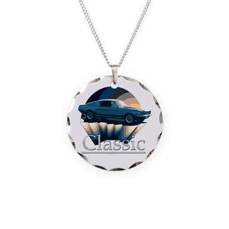Ford Mustang Charm by Ford Mustang Necklace Circle Charm By Saltypro Shop