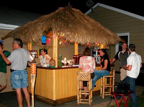 build  tiki bar   thatched roof hgtv
