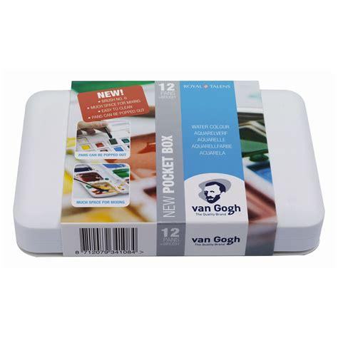 Gogh Watercolor Plastic Set 24 Half Pans gogh water colour set artists watercolour paint palette 12 or 24 pans ebay