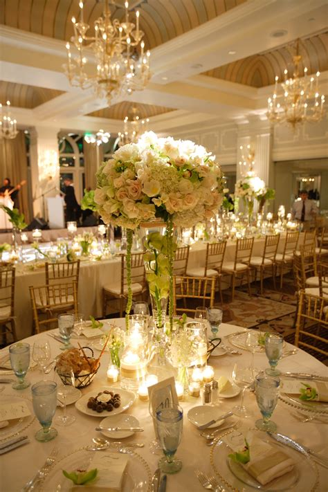 wedding reception table settings photos beautiful wedding reception table setting colonnade ballroom luxury hotel casa mar