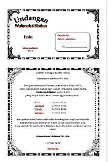 contoh gambar undangan khitanan tulisanviralinfo