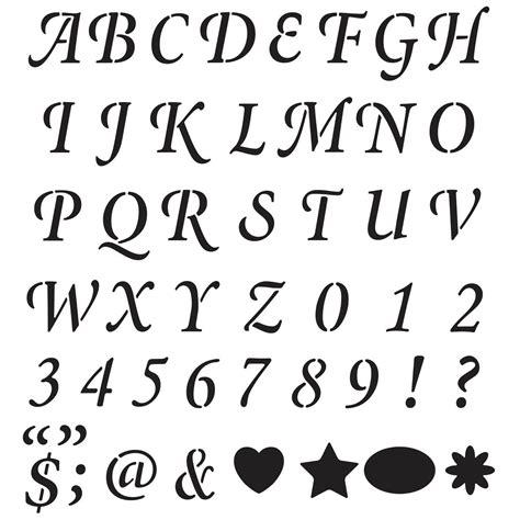 stencil lettere shop plaid plaid 174 stencils value packs letter