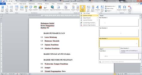 cara membuat daftar isi otomatis menggunakan tab cara membuat daftar isi otomatis di word mudah banget