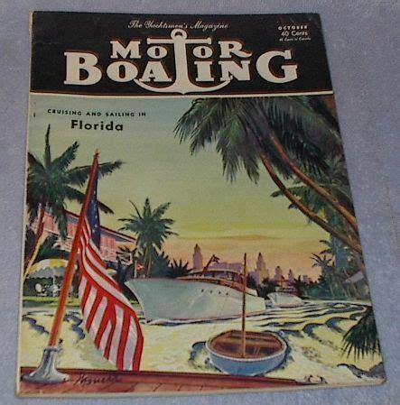 boating magazine back issues yachtsmen motor boating magazine october 1951 magazine