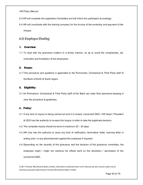 hr policies and procedures manual template hr policies and procedures manual template free template
