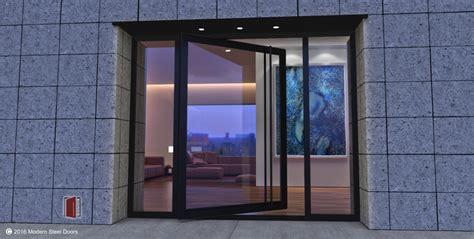 Metal Exterior Doors With Glass Pivot Doors Pivoting Front Doors Handcrafted In Usa Msd