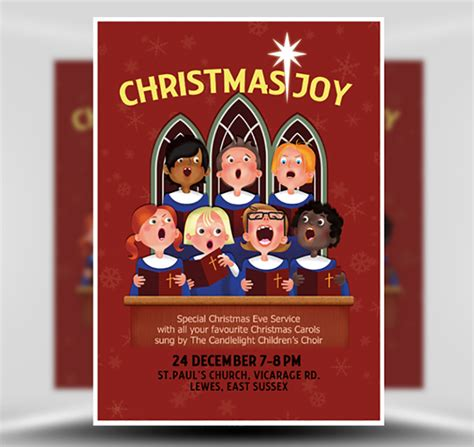 Christmas Choir Flyer Template Flyerheroes Caroling Flyer Template