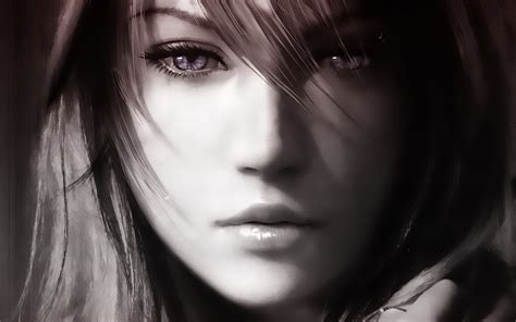 anime girl wallpaper portrait looking pictures final fantasy anime realistic