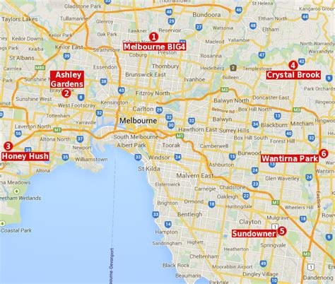 map of and surrounds melbourne travel tourism