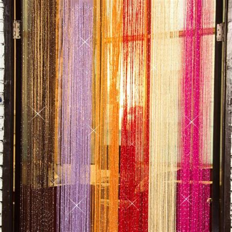 curtain thread silver thread color mix string tassel curtain room divider