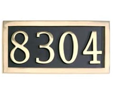Number Plate Address Finder Decorative Door Hardware Brass Accents Hardware Doorware