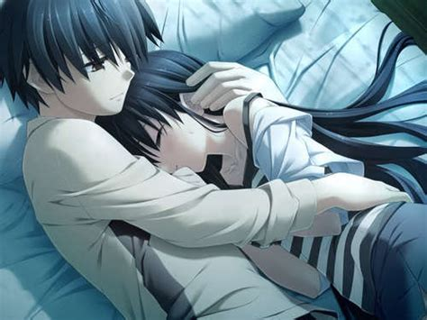 anime couple in bed what will you do if you see your an anime character