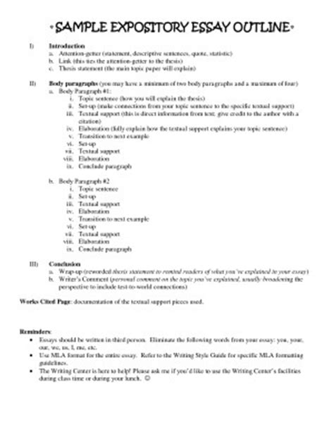 Explanatory Essay Outline by Outline For Explanatory Essay Iopsnceiop Web Fc2