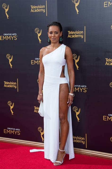 Mel Dress mel b stuns in daring white dress picture stylish