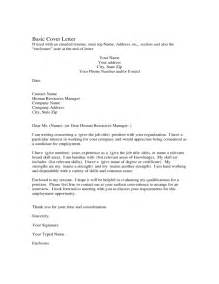 simple cover letter sle basic cover letter sle basic cover letter for free