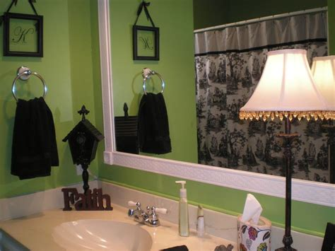 Black White And Green Bathroom by My Lime Green Bathroom With Black White And Accents