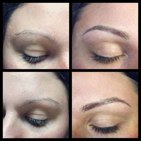 eyebrows tattoo hair by hair semi permanent makeup cosmetic hair stroke
