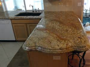 granite countertop edges traditional kitchen with