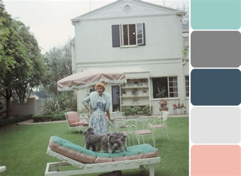 lucille ball s house lucille ball s backyard offers dreamy pastel color