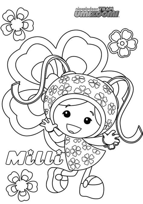 team umizoomi coloring pages online team umizoomi milli from team umizoomi coloring page