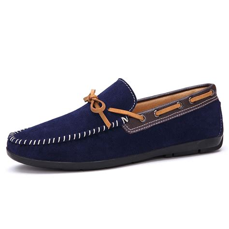 2015 new mens casual leather flats dress shoes driving