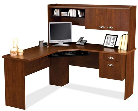 furniture wonderful l shaped computer desk with hutch for home office decoration nu decoration bestar delta tuscany brown l shaped computer desk office desks pinterest desks office