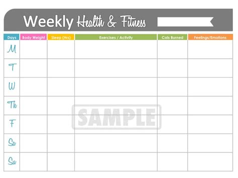 Unavailable Listing On Etsy Fitness Tracker Template