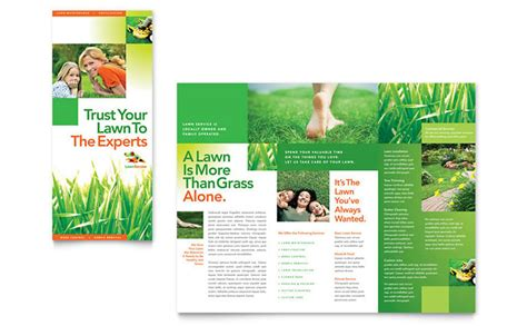 Lawn Maintenance Tri Fold Brochure Template Design Free Agriculture Flyer Templates