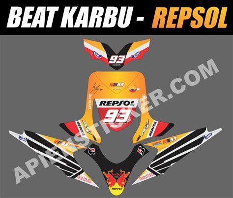 Sticker Striping Motor Honda Beat Fi Esp striping motor beat karbu repsol 2015 apien sticker