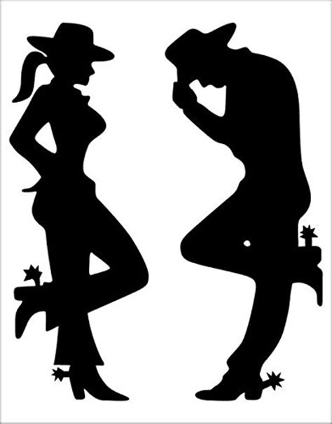 cowboy and cowgirl silhouette cowgirl and cowboy silhouette black decal nostalgia decals