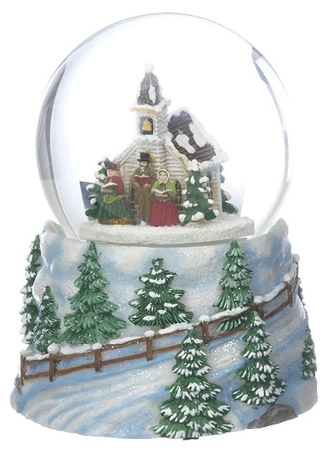 large snow globe church christmas ornament other