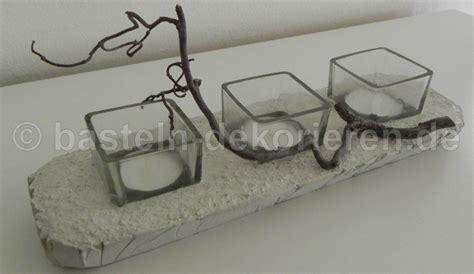 Kerzenhalter Beton by Kerzenhalter Aus Beton Und Kleinen Gl 228 Sern F 252 R Teelichter