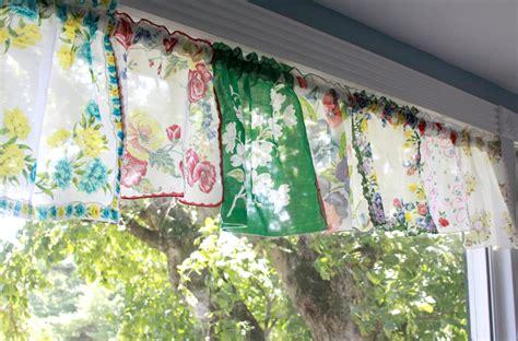 handkerchief curtains colorful vintage handkerchief valances