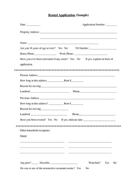 rental application template free basic rental application template