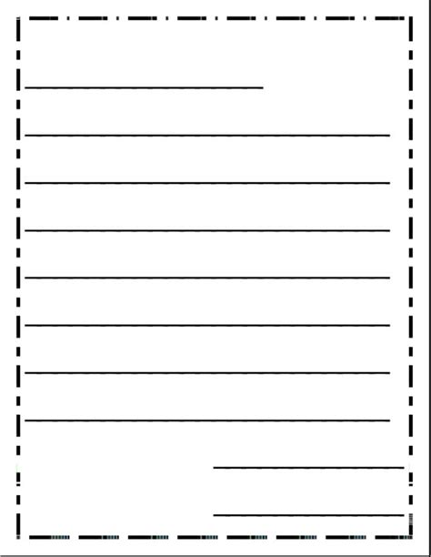 friendly letter writing template for kindergarten best
