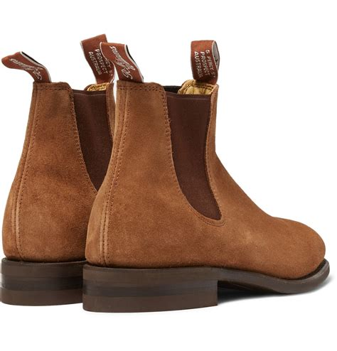 r m williams suede chelsea boots in brown for lyst