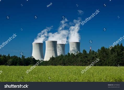 Nuclear Power In Industri nuclear power plant industry energy stock photo 64790056