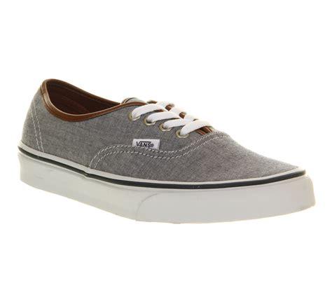 Vans Authentic Oxford vans authentic blue oxford leather exclusive trainers shoes ebay