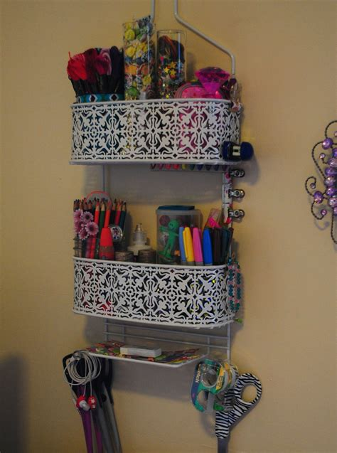 purposed  shower caddy  shelving crafts
