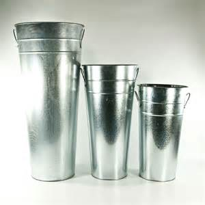 wholesale wedding galvanized buckets 6 69 15 quot glavanized metal flower buckets