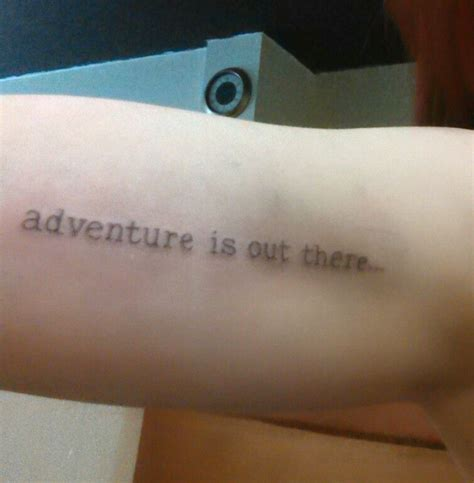 adventure is out there tattoo adventure is out there done by timeka at wolf creek