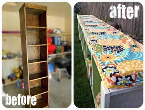 bookshelf into bench diy fun crafts bookshelf to bench dump a day