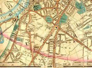 Map Of Vauxhall Laurie S Map Of Vauxhall And Kennington 1844