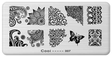 Konad Series Nail Kutek Tekstur 1pcs nail template cooi series nail plate stainless steel image konad nail