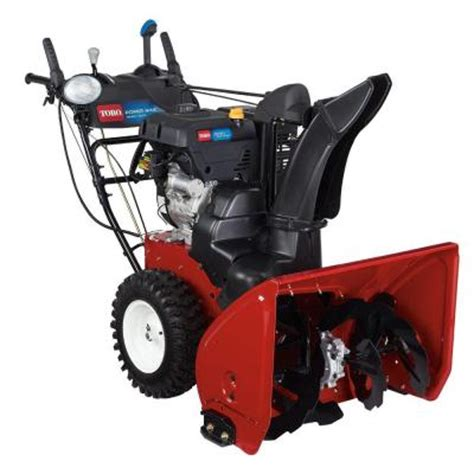 small snow blowers home depot toro power max hd 1028 28 in ohxe two stage gas snow