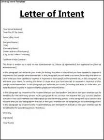 letter of understanding template letter of intent template free word templates letter