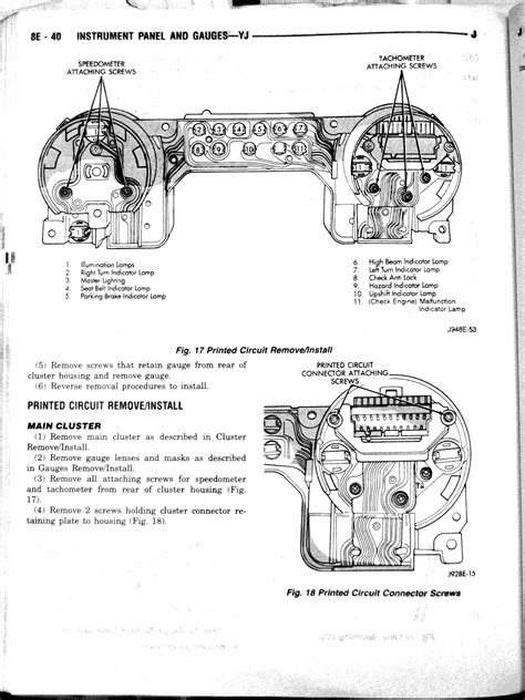 1987 jeep wrangler cluster wiring diagram 28 images 89
