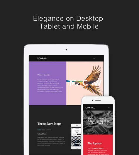 conad mobile conrad creative multi purpose html template portfolio